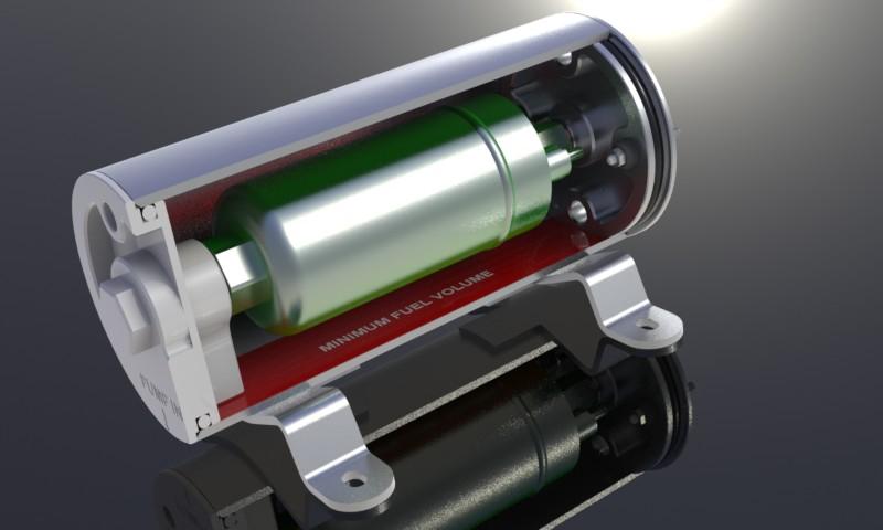 Fully Enclosed Fp34 Fuel Pump Surge Tank For Bosch 044 Motorsport